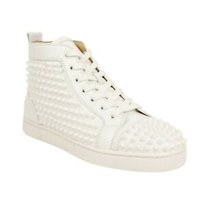 NIB-CHRISTIAN-LOUBOUTIN-White-039-Louis-Spikes-039-Calfskin-Sneakers-12-45-1295