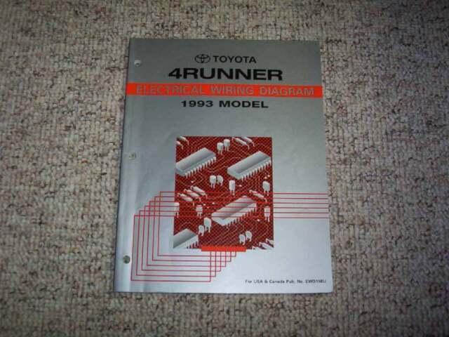 1993 Toyota 4Runner Electrical Wiring Diagram Manual SR5 2 ...