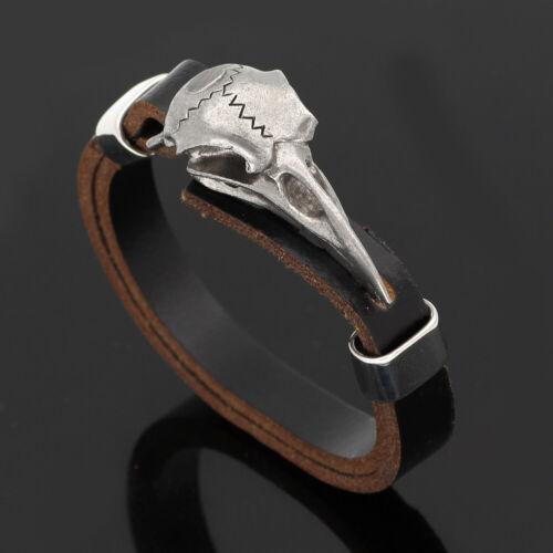 Men viking odin raven amulet stainless steel bracelet