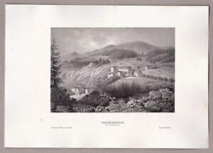 Lazn-Jesenik-Bad-Graefenberg-Sudeten-Grafik-Stich-Stahlstich-1855