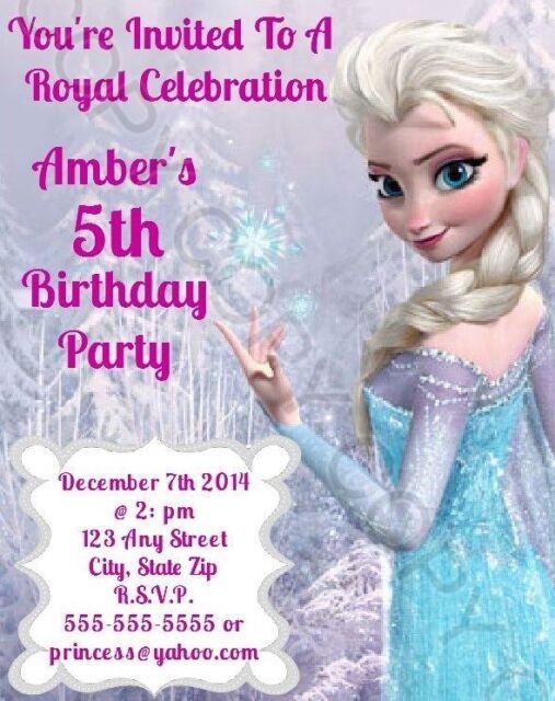 Frozen birthday party invitation personalize printable you print frozen birthday party invitation personalize printable you print changes ok filmwisefo