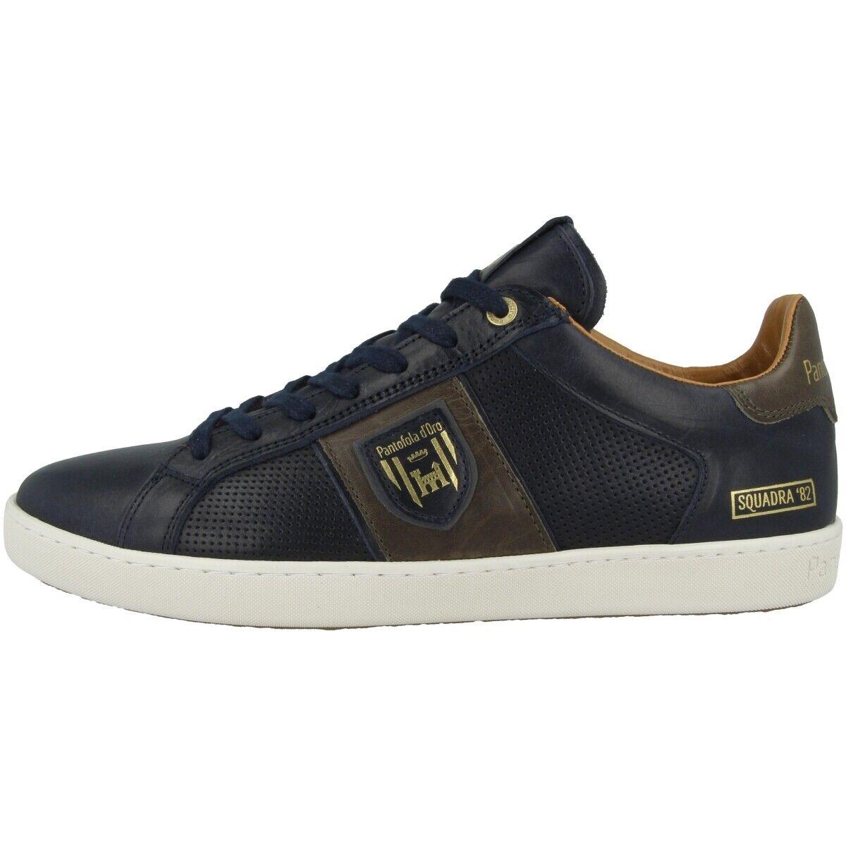 Pantofola D oro Sorrento hombres Low Zapatos Hombre Zapatilla Deportiva Retro Azul