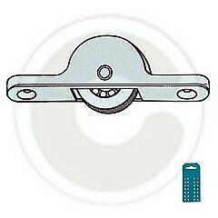 4 pz carrelli Omge art 105 carrello ruota in acciaio per ante scorrevoli