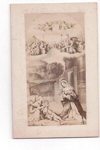Vintage-CDV-Religious-Painting-Antonio-Allegri-da-Correggio-Madonna-St-Sebastian