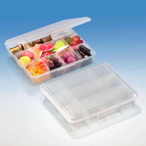 BUCHSTEINER Klickbox 160 x 135x 35 mm Pillenbox Musterkasten Sortierbox