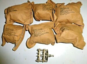 6-Commutateurs-a-galette-porcelaine-contact-argente-12-pos-mecanique-US-NOS-NIB