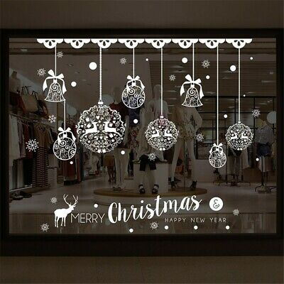 Jingle bells Christmas Shop window Decor Christmas bells Jingle bells Xmas wall Art Stickers Vinyl Wall Decals Jingle all the way