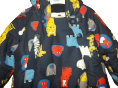 NEW BOYS GIRLS EX M /& S STORMWEAR ALL IN ONE FLEECE LINED SNOW SUIT 3-18 months