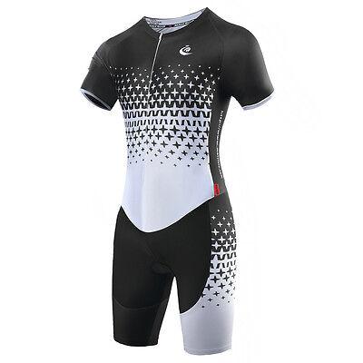 Unisex Body Suit Triathlon One Piece Suit Cycling Jumpsuit Riding Jersey Top