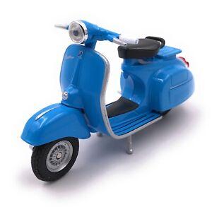 Modele-VESPA-SCOOTER-roller-bleu-Moto-Bike-Modele-echelle-1-18