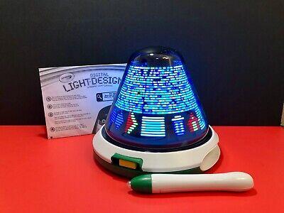 Crayola Digital Light Designer Spinning Light Canvas With Pen Ebay