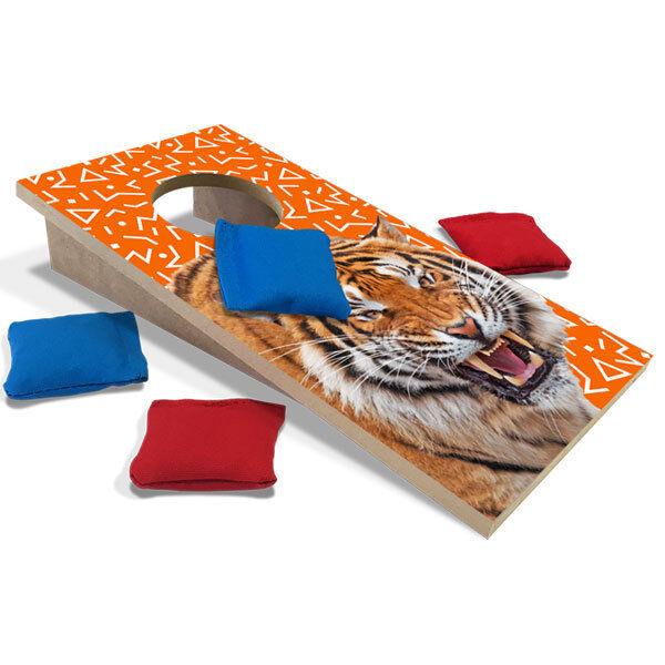orange Tiger Fun Size Cornhole Set