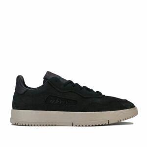 Hommes-Adidas-Originals-SC-PREMIERE-Lacets-Matelasse-Baskets-En-Noir