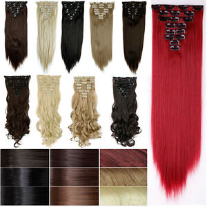 Real thick clip in hair extensions straight full head as human image is loading real thick clip in hair extensions straight full pmusecretfo Image collections