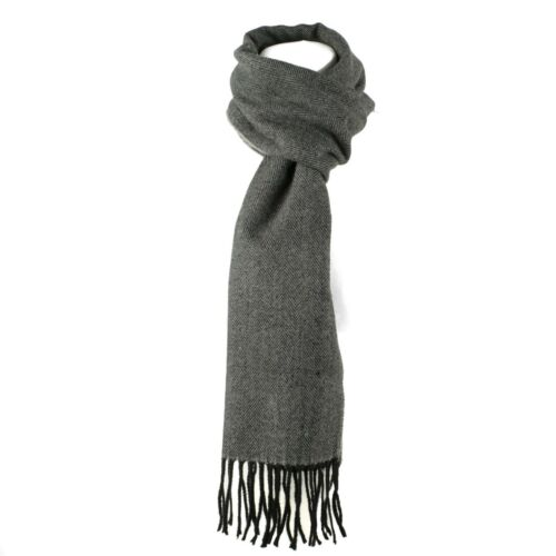 Luxury Wool Blend Unisex Herringbone Pattern Winter Scarf