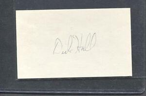 Dick-Hall-Signed-3X5-Index-Card-Pirates-1952-Debut-Flat-Rate-Ship