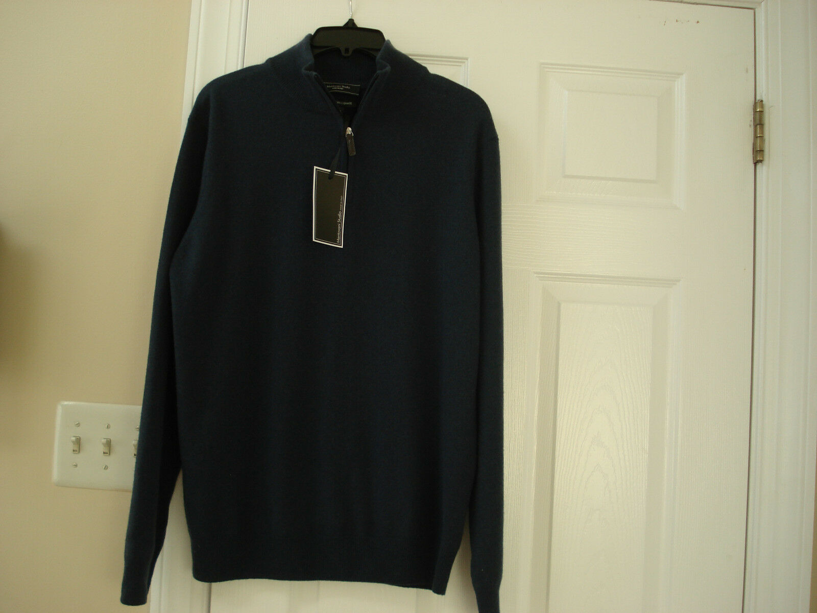 MANTOVANI STUDIO  MENS  100% CASHMERE SWEATER SIZE-LARGE NWT