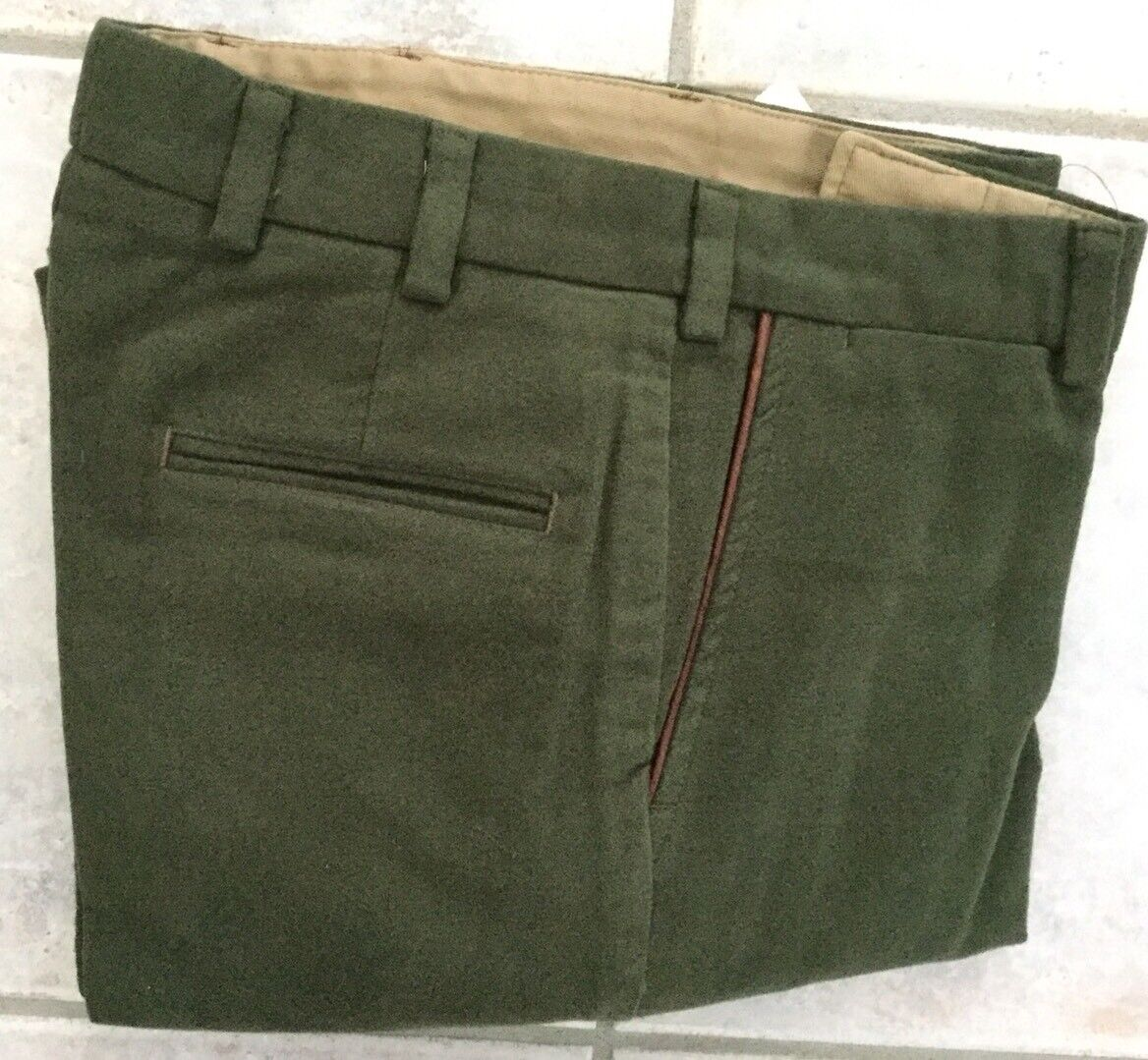 NWOT-Bills khakis M2-PLAIN CLASSIC FIT CUFFED SZ 34X31 MOLESKIN Green