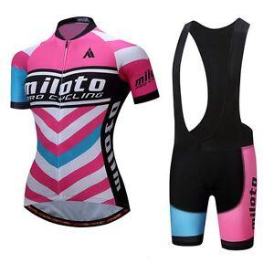 Women s Cycling Jersey Padded (Bib) Shorts Ladies Cycle Clothing Set ... 7aca46cd6