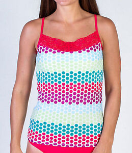 0181745131 EXOFFICIO Women s Give-N-Go Lacy CAMI Top w Shelf Bra - Multi DOTS ...
