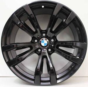 20 Inch Genuine Bmw X5 X6 F15 M Sport 2015 Model Alloy Wheels In Custom Black Ebay