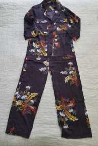 f9723d1af7e6 Details about NEW WOMEN S XXS XS XL MADEWELL SATIN PAJAMA JUMPSUIT IN  BLOOMING OASIS