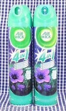 2 Bottles AIR WICK COOL NIGHT RAIN 4 IN 1 Air Fresheners Room Spray