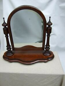 Antique-Victorian-Mahogany-Carved-Cheval-Shaving-Swing-Mirror-Vintage-C-1880-039-s
