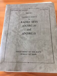NAVSHIPS-TECHNICAL-MANUAL-FOR-RADIO-SETS-AN-SRC-20-AND-21-DEPT-OF-THE-NAVY-NICE