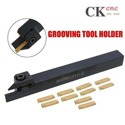 MGEHR1212-2 Cut-Off Tool Holder 12*12*100mm Boring Bar 10pcs MGMN200-G Inserts
