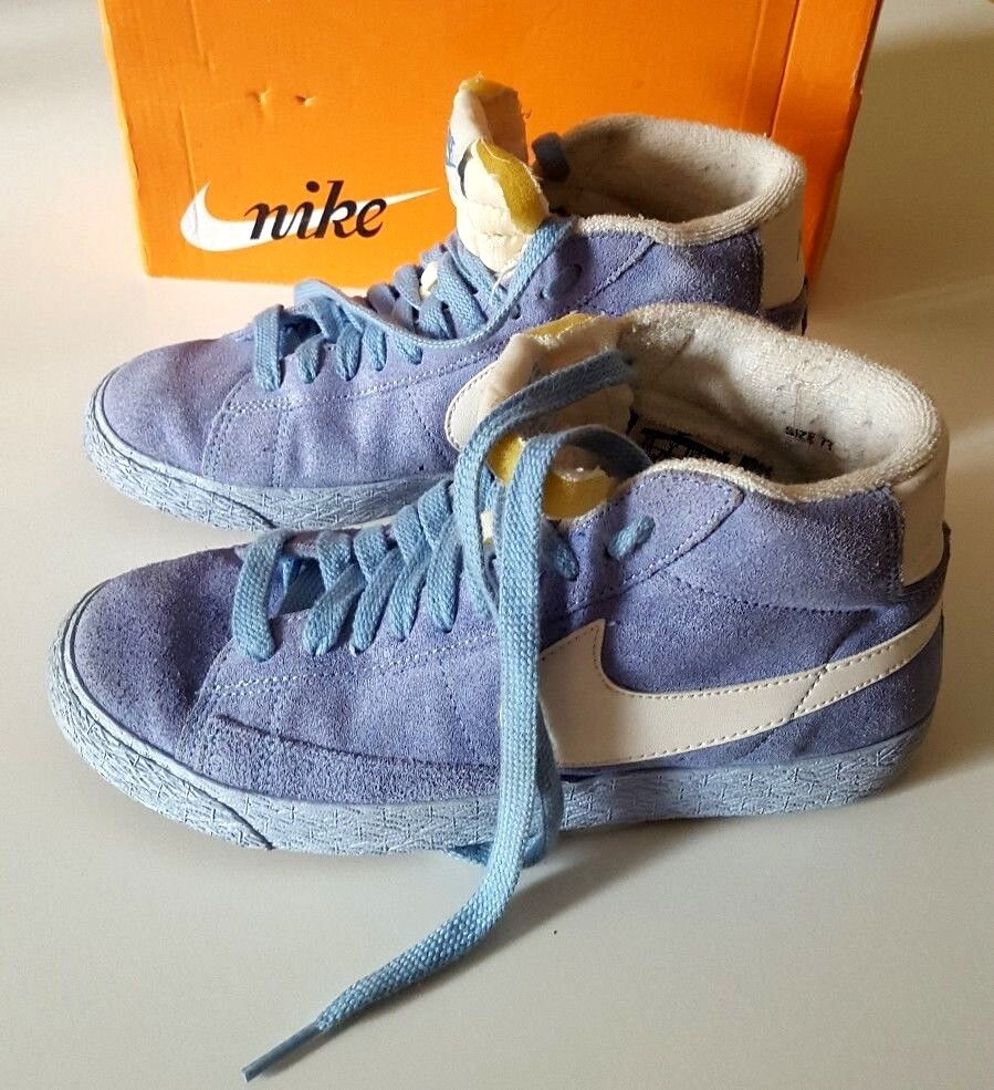 Nike Blazer Mid Suede Vintage Light Blue High Top Comfortable The latest discount shoes for men and women