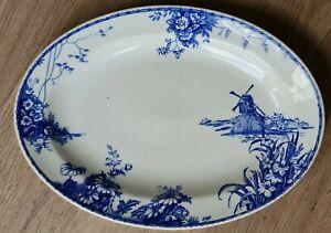 El lahaya Wh Grindley azul y blanca IRONSTONE ANTIGUO PLATO placas Raro