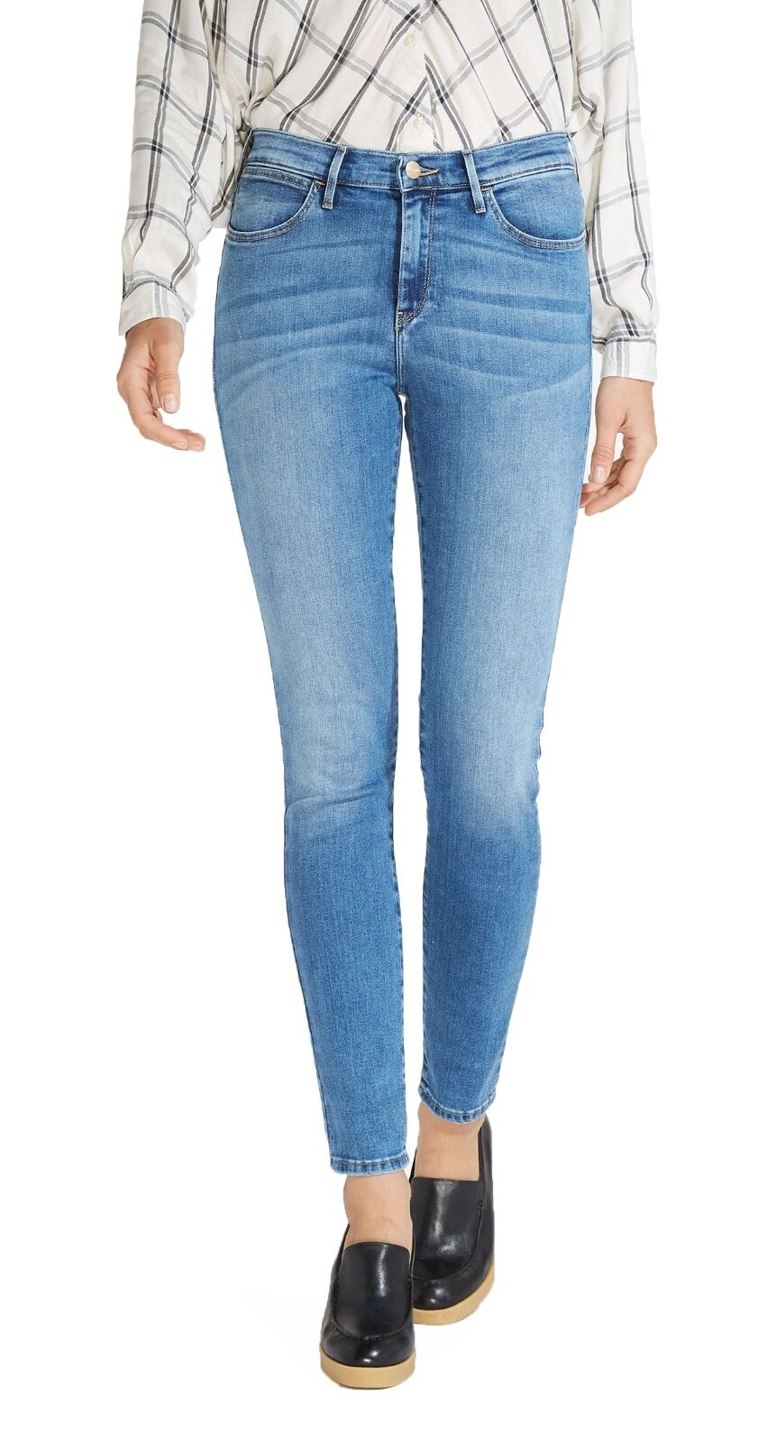 Wrangler High Rise Skinny Flex Stretch Jeans damen Ladies Light Best Blau Denim