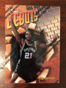 1997-98 Topps Finest Tim Duncan Rookie RC #101 w/ Peel San Antonio Spurs HOF