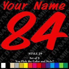 Custom Motocross Number Plate Decal Name Mx Sticker Atv Bmx Race Dirt Bike Ama