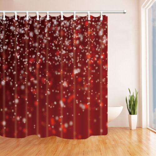 Christmas snowflakes Bathroom Decor Shower Curtain Waterproof Fabric w//12 Hook