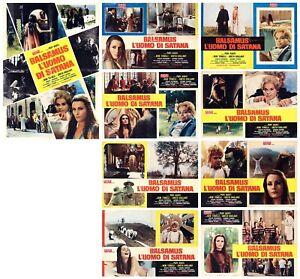 BALSAMUS L'UOMO DI SATANA SET FOTOBUSTE 8+SOGG AVATI HORROR 1968 USED LOBBY CARD