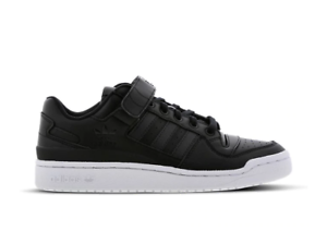 Details zu Mens Adidas Originals Forum Low Trainers Shoes Black White Leather CG7135