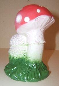 ZEHO-Garden-Gnome-Red-White-Polkadot-Mushroom-Toadstool