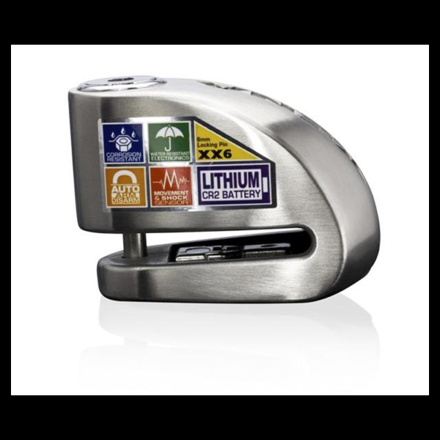 XENA - Antivol Moto Bloque Disque Alarme 120 dB XX6 Acier 6mm