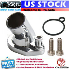 Mr Gasket Thermostat Housing 2662; 160° Fixed Chrome Zinc-alloy for 260-351W SBF