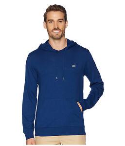 Nouvelle Marque LACOSTE homme manches longues Pullover à Capuche Pull Chemise TH9349 encrier bleu