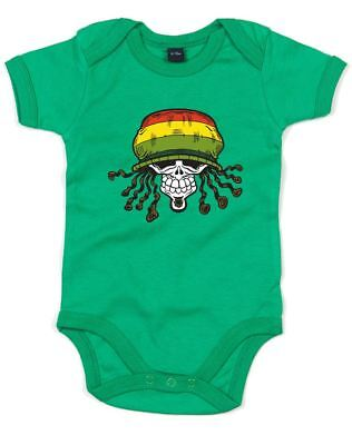 Suit Grow Guy Martin Skull and Spanners 8 Baby Vest