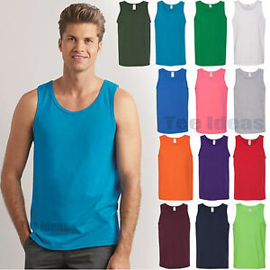 50eaff0ba29e5 Image is loading Gildan-Heavy-Cotton-Tank-Top-Double-needle-stitched-