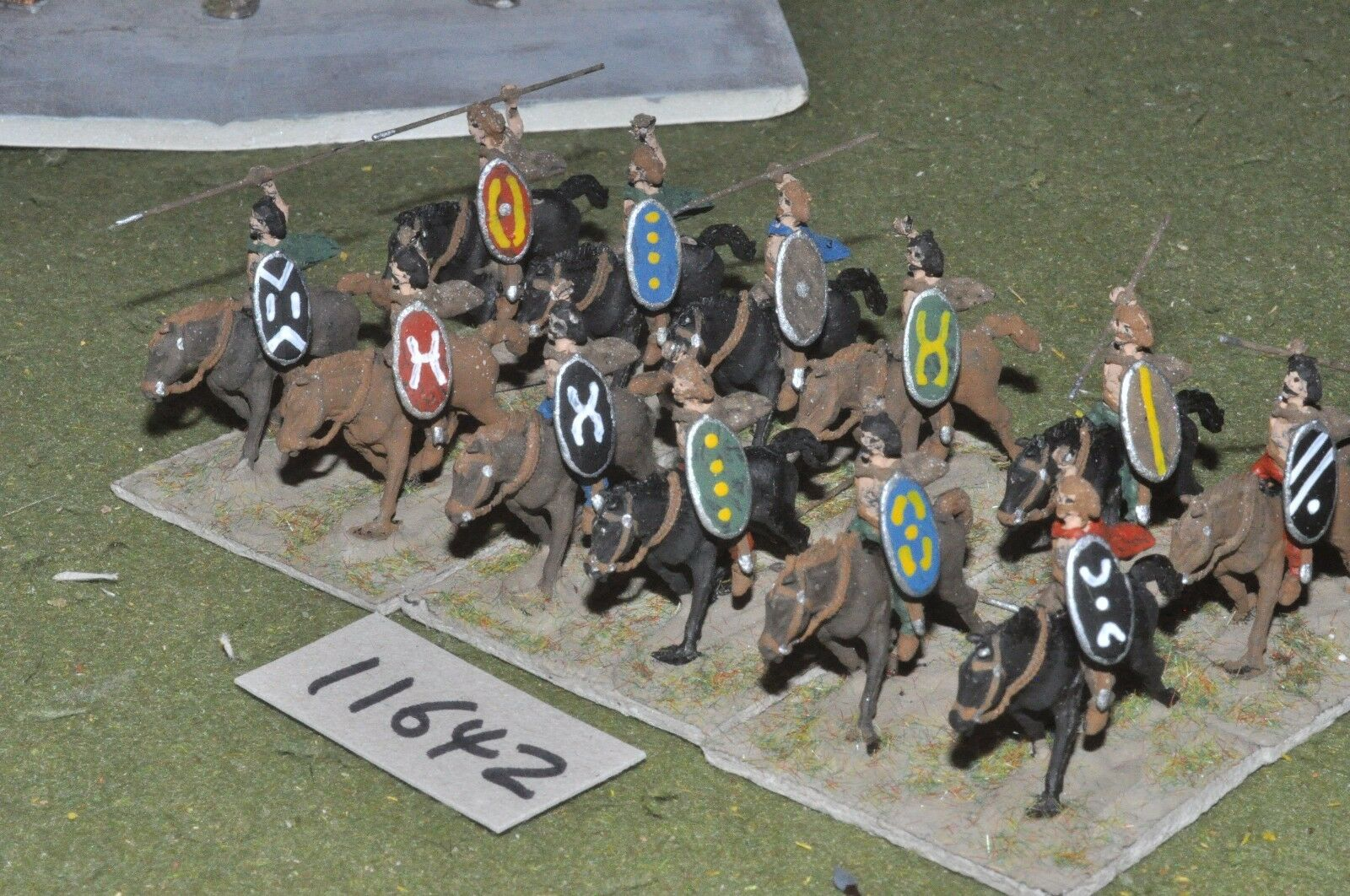 25mm roman era   german - ancient cavalry 12 cavalry - cav (11642)