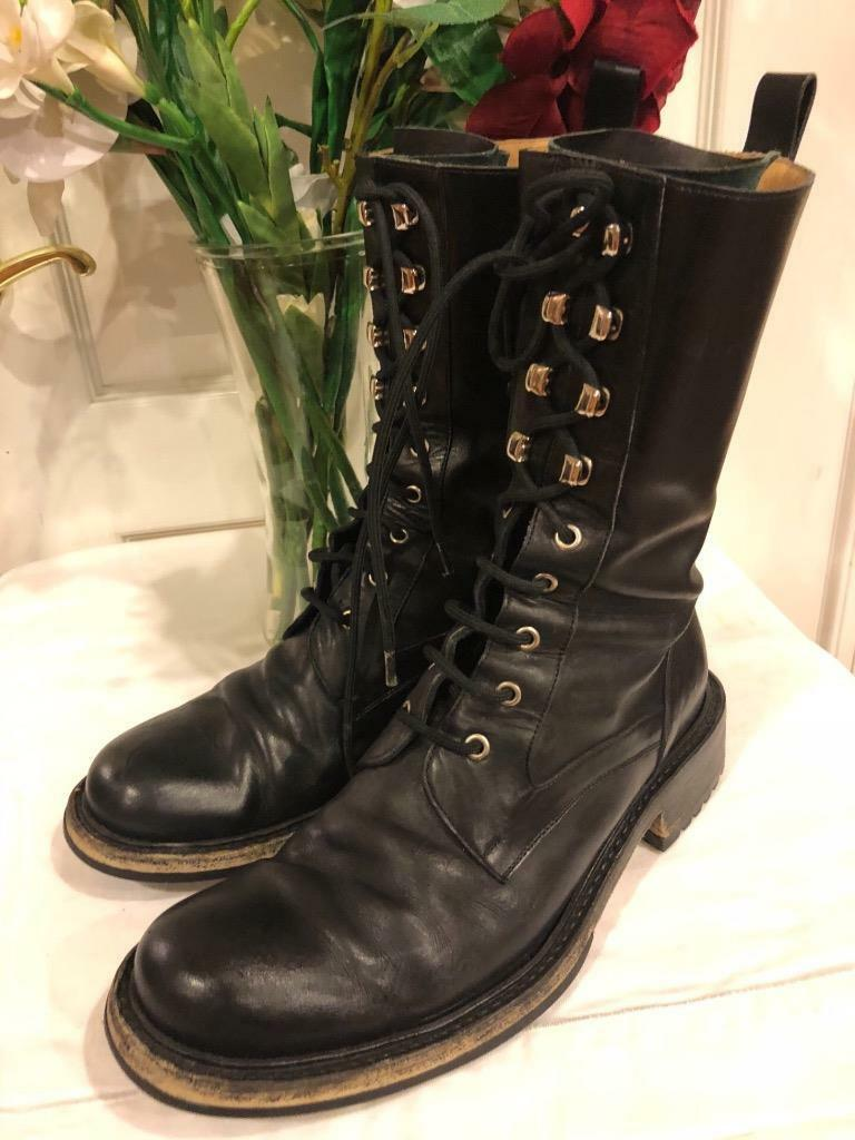 MESN BALLY MARTENS LACE UP BOOTS SIZE 9.5  (men800