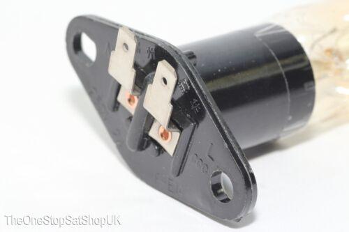 20 W 240 V Universal micro-ondes Ampoule De Lampe 2 x 4.7 mm plat spade terminals base T170