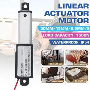 12V Linear Actuator  50mm  Motor Window Door Opener 30mm//s,15mm//s,9.5mm//s Speed