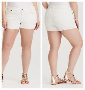 Torrid Crepe Shorts 1X 2X 4X Lace Up Front Black Flowy Dress Stretch Pants Plus