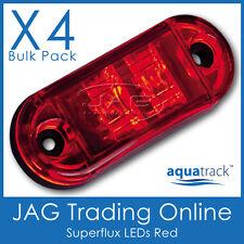 4 x 12V SUPERFLUX LED RED SIDE MARKER-Boat/Truck/Trailer/Caravan Clearance Light